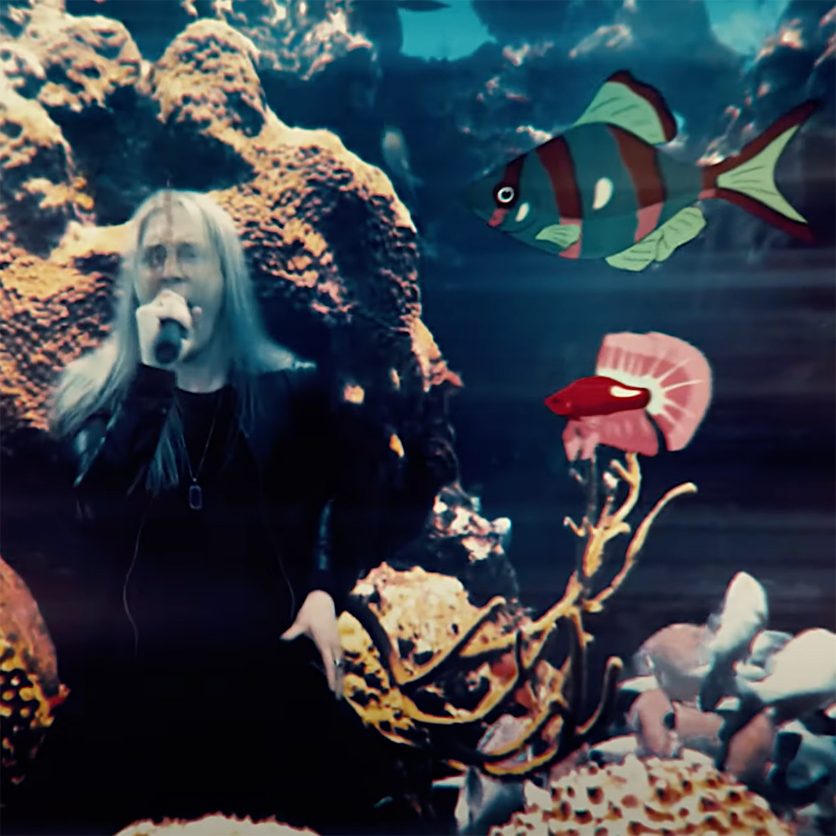Powerglove 'Under the Sea' music video with Marc Hudson from Dragonforce